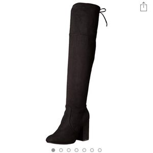 Steve Madden black over the knee suede boots 10